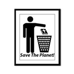 Save The Planet Framed Panel Print