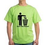 Save The Planet Green T-Shirt