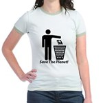 Save The Planet Jr. Ringer T-Shirt