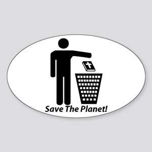 Save The Planet Oval Sticker