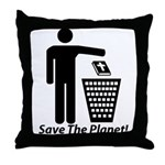 Save The Planet Throw Pillow