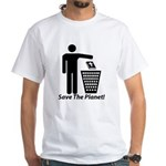 Save The Planet White T-Shirt