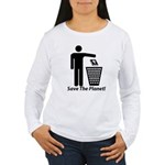 Save The Planet Women's Long Sleeve T-Shirt