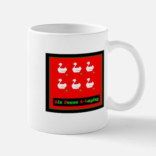 Six Geese a Laying Christmas Mug