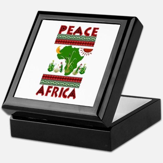 Peace in Africa Keepsake Box