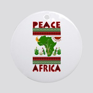 Peace in Africa Ornament (Round)