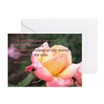 The optimist sees the rose ~ Cards (Pk of 10)