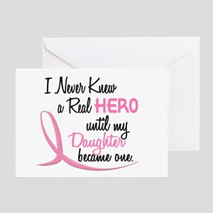 Never Knew A Hero 3 Daughter BC Greeting Card