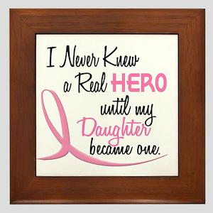 Never Knew A Hero 3 Daughter BC Framed Tile