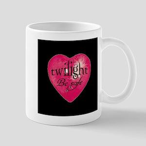 twilight be safe heart /blk Mug