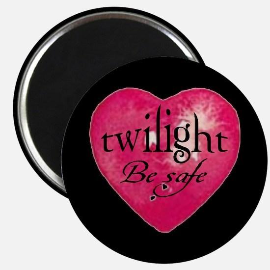 twilight be safe heart /blk Magnet