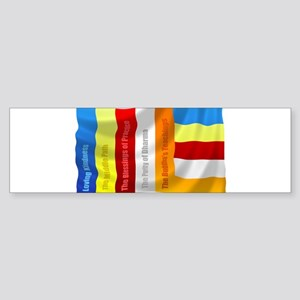 Buddhist Flag Bumper Sticker