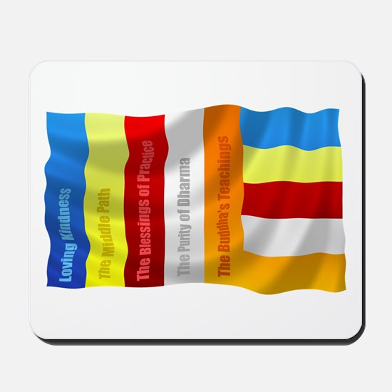 Buddhist Flag Mousepad