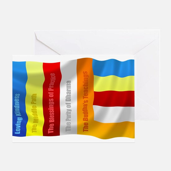 Buddhist Flag Greeting Card