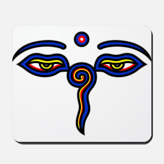Buddha Eyes Mousepad