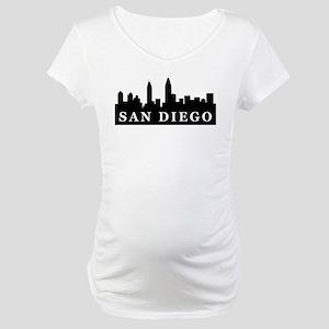 San Diego Skyline Maternity T-Shirt