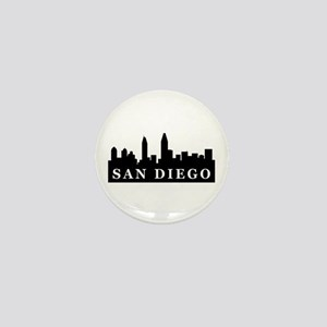 San Diego Skyline Mini Button