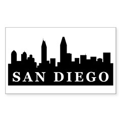 San Diego Skyline Rectangle Decal