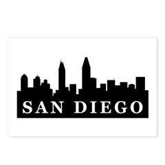 San Diego Skyline Postcards (Package of 8)