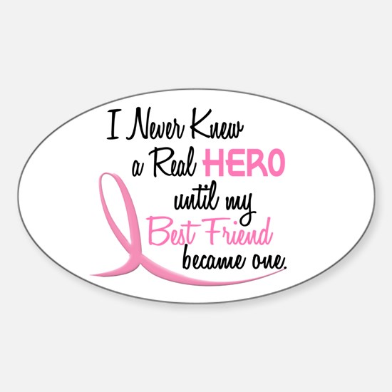 Never Knew A Hero 3 Best Friend BC Oval Decal