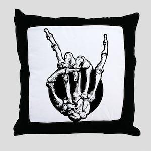 Rock in Bone Throw Pillow