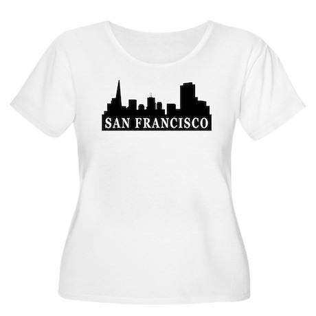 San Francisco Skyline Women's Plus Size Scoop Neck
