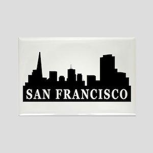 San Francisco Skyline Rectangle Magnet