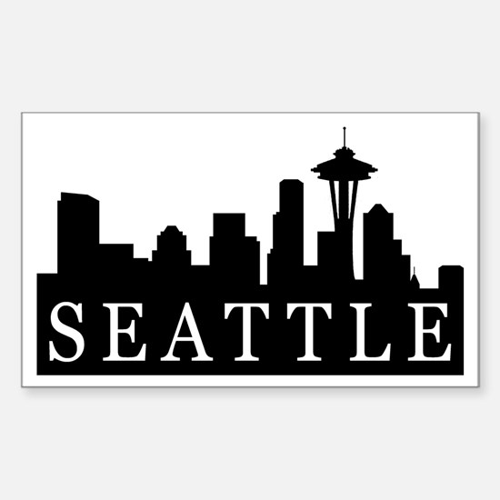 Seattle Skyline Rectangle Decal
