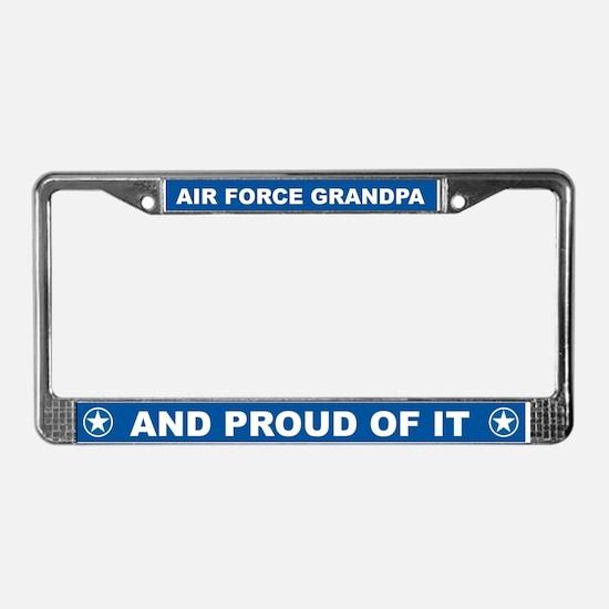 Air Force Grandpa License Plate Frame