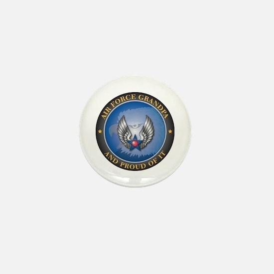 Air Force Grandpa Mini Button
