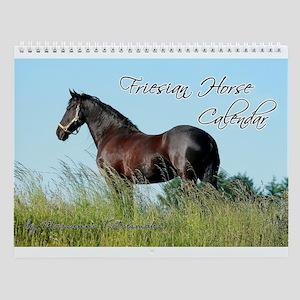 Friesian Horse 2017 Wall Calendar