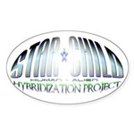 Star Child Oval Sticker