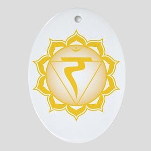 The solar plexus chakra Oval Ornament