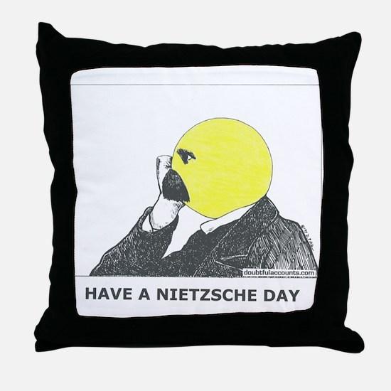 Nietzsche stuff Throw Pillow