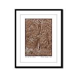 Oak and Pine Embrace Framed Panel Print