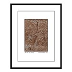 Oak and Pine Embrace Large Framed Print