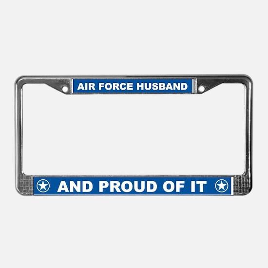 Air Force Husband License Plate Frame