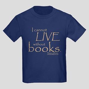 Without Books Kids Dark T-Shirt