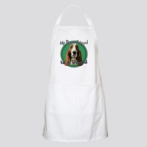 My Best Friend Basset Hound BBQ Apron