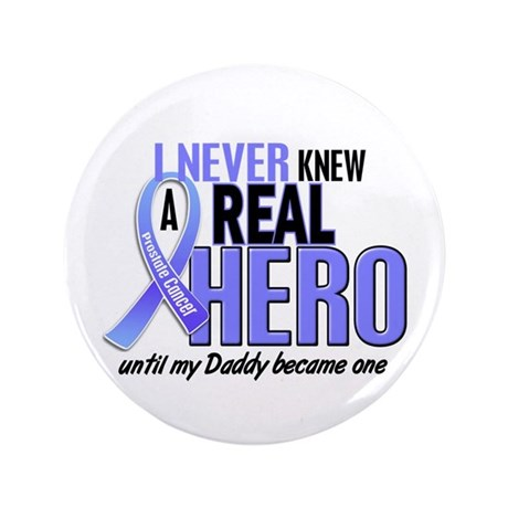 """Never Knew A Hero 2 LT BLUE (Daddy) 3.5"""" Button"""