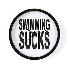 Swimming Sucks Wall Clock