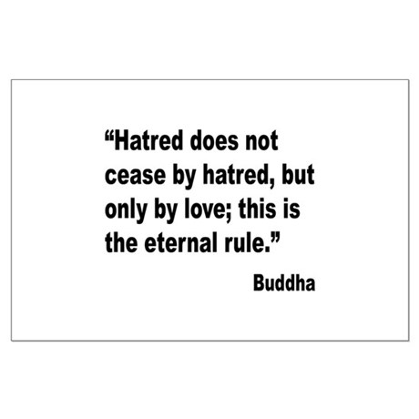 Buddha Stop Hatred Quote Posters by giftbud