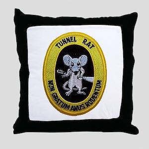 Tunnel Rat Throw Pillow