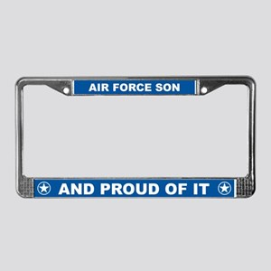 Air Force Son License Plate Frame