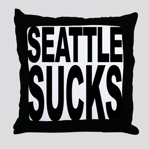 Seattle Sucks Throw Pillow