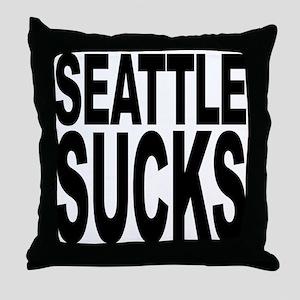 Seattle Sucks Throw Pillow