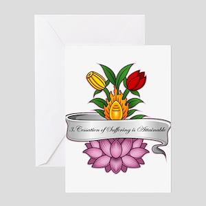 Buddha's 3rd Truth Greeting Card