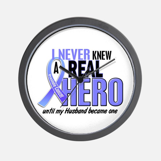 Never Knew A Hero 2 LT BLUE (Husband) Wall Clock
