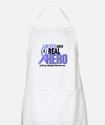 Never Knew A Hero 2 LT BLUE (Husband) BBQ Apron