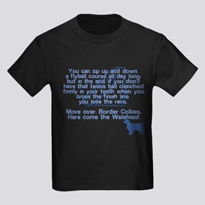 Move Over Welshie Flyball Kids Dark TeeShirt